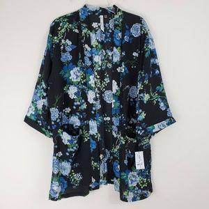 NY Collection Floral Kimono Jacket - NWT